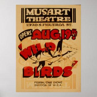 Affiche vintage de WPA de théâtre de Musart Posters