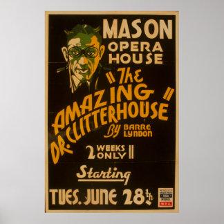 Affiche vintage de WPA de théâtre de théatre de Posters