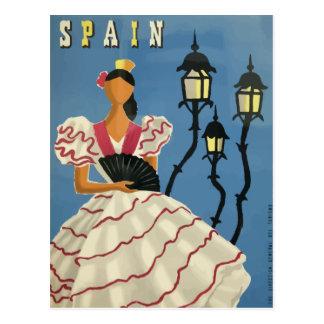 Affiche vintage Espagne de carte postale de voyage