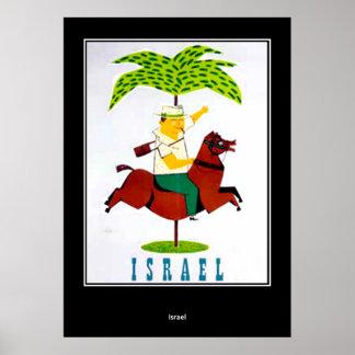 affiche vintage Israël d'impression de voyage
