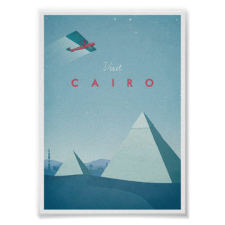 Affiche vintage le Caire de voyage
