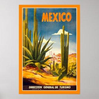 Affiche vintage Mexico