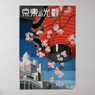 Affiche vintage Tokyo Japon de voyage Posters