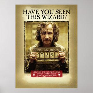 Affiche voulue noire de Sirius Posters