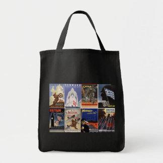 Affiches alliées de guerre d'effort de la deuxième sac en toile épicerie