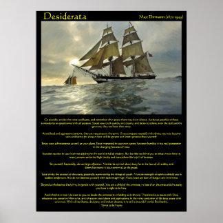 Affiches de bateau à voile de desiderata poster