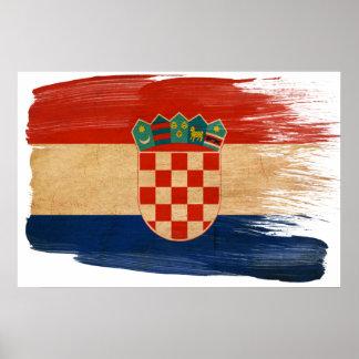 Affiches de drapeau de la Croatie