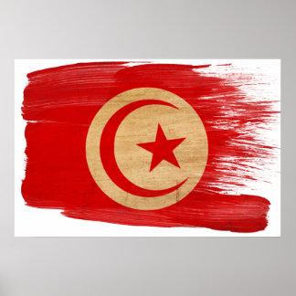 Affiches de drapeau de la Tunisie