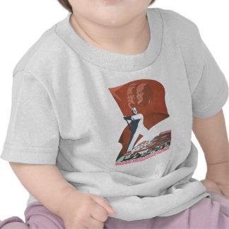 Affiches de propagande d'Union Soviétique de guerr T-shirts