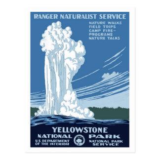 "Affiches de WPA - carte postale de ""Yellowstone"""