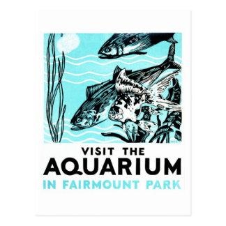 """Affiches de WPA - """"visitez l'aquarium dans le pair Cartes Postales"""