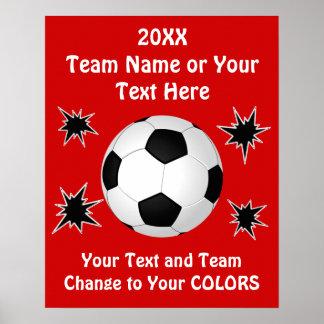 Affiches d'équipe de football avec VOTRE TEXTE et