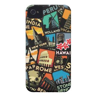 Affiches la rétro Europe vintage Asie Etats-Unis Étui iPhone 4