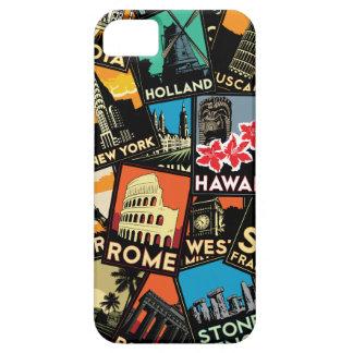 Affiches la rétro Europe vintage Asie Etats-Unis d Étuis iPhone 5