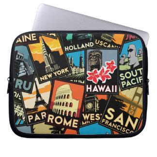 Affiches la rétro Europe vintage Asie Etats-Unis d Housse Ordinateur Portable