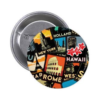 Affiches la rétro Europe vintage Asie Etats-Unis d Pin's