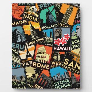 Affiches la rétro Europe vintage Asie Etats-Unis d Plaques D'affichage