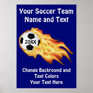 Affiches personnalisables du football, vos