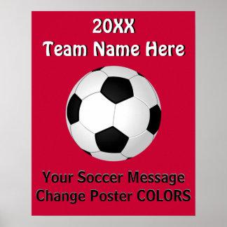 Affiches personnalisées du FOOTBALL avec VOTRE