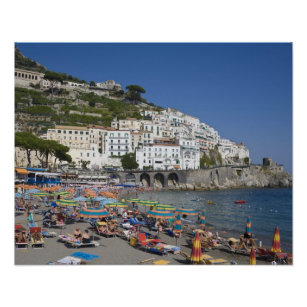 Affiches Plage d'Amalfi, Campanie, Italie