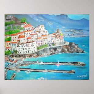 Affiches Ville de pêche d'Atrani -