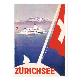 Affiches vintages de voyage : Lac Zurich Suisse Cartes Postales