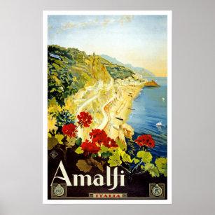 Affiches Voyage vintage, Amalfi