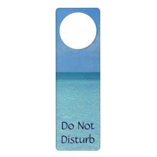 Affichettes De Porte Bleu de turquoise tropical d'horizon des Caraïbes