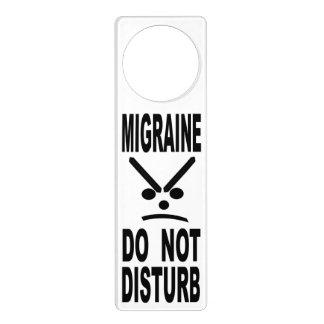 Affichettes De Porte La migraine ne dérangent pas