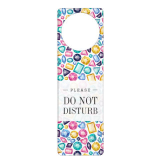 Affichettes De Porte Pierres gemmes brillantes Girly chics de diamant