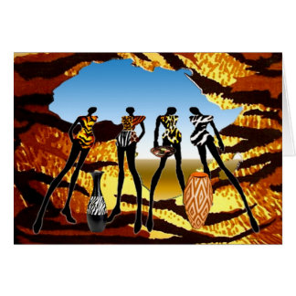African Home Coming Greeting Cards