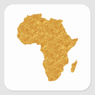 Afrique Dorée Sticker Carré