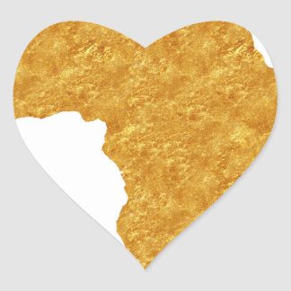 Afrique Dorée Sticker Cœur