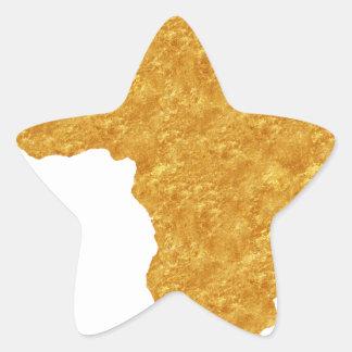 Afrique Dorée Sticker Étoile