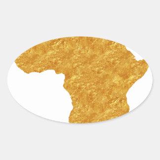 Afrique Dorée Sticker Ovale