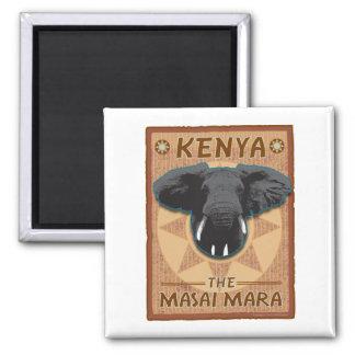 Afrique-Kenya-Aimant Magnet Carré