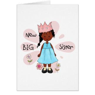 Afro-américain de princesse grande soeur carte de vœux