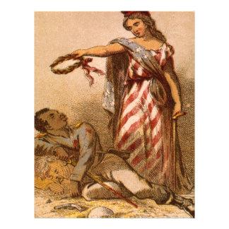 Afro-américain mourant - image 1863 de guerre civi prospectus 21,6 cm x 24,94 cm
