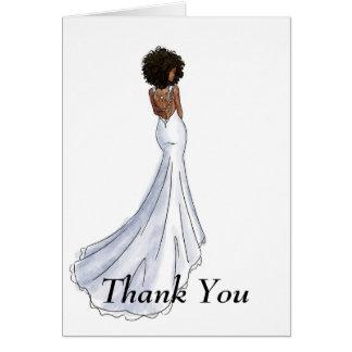 Afro-américain nuptiale de carte de Merci
