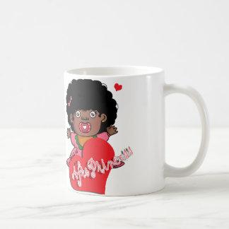 Afro princess mug