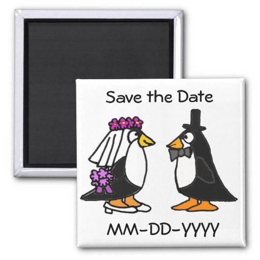 AG économies de pingouin le magnet de date Magnets Pour Réfrigérateur