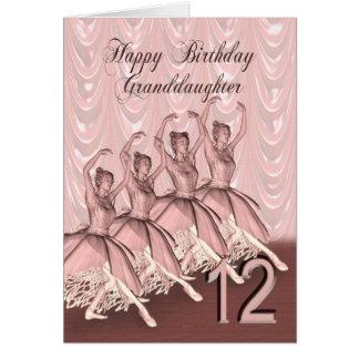 Âge 12, une carte d'anniversaire de petite-fille