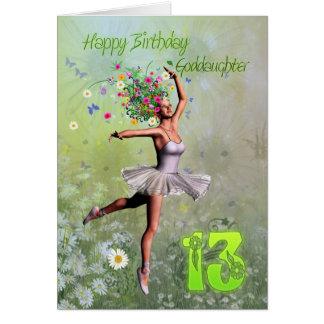Âge 13, carte d'anniversaire de filleule féerique