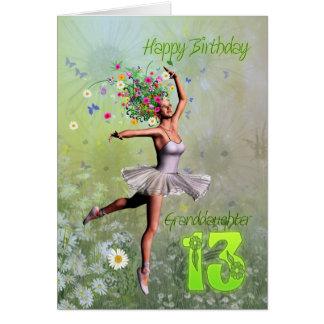 Âge 13, carte d'anniversaire de petite-fille