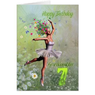 Âge 7, carte d'anniversaire de petite-fille