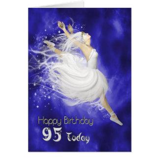 Âge 95, sautant la carte d'anniversaire de