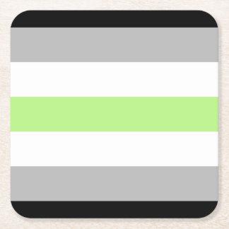 Agender_pride_flag Dessous-de-verre Carré En Papier