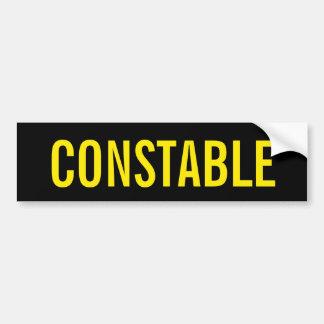 AGENT DE POLICE - emblème jaune d'or de logo Autocollant De Voiture