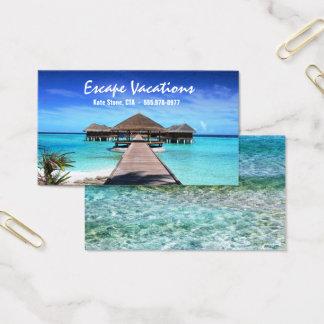 Agent de voyage - modèle de carte de visite
