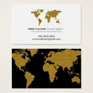 agent de voyage moderne de prof. de carte du monde
